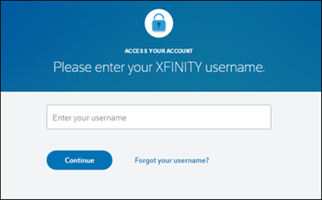 Recover Comcast Xfinity Password