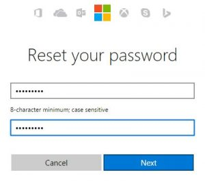 Reset Outlook Password