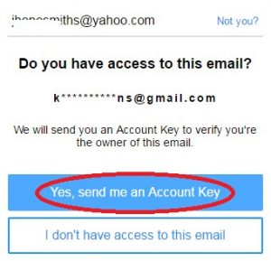 yahoo mail forgot password and security question