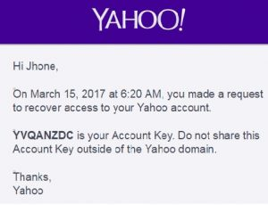 yahoo account login key activation