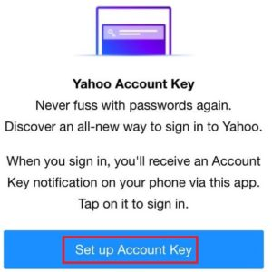 How to set up a sign on yahoo mail app android