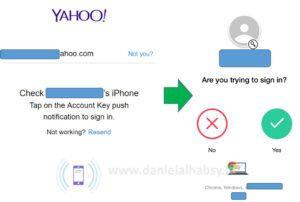 login yahoo account key