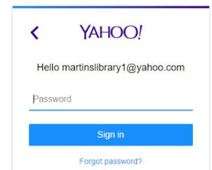 yahoo mail login page