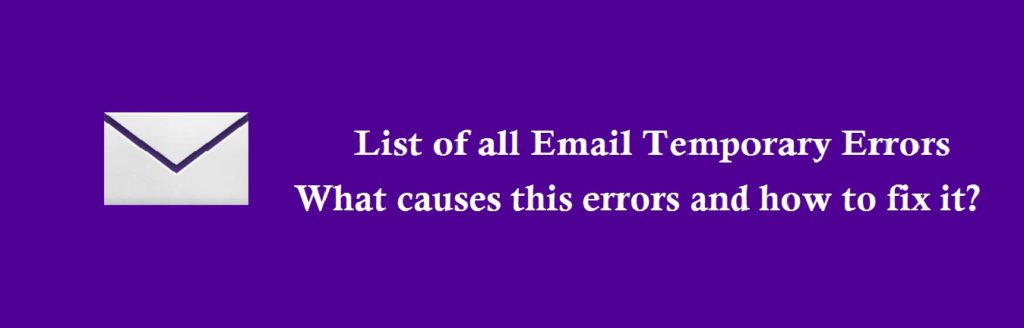 Yahoo email temporary errors